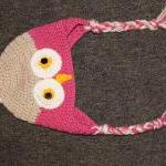 Crocheted Owl Hat (sizes F..